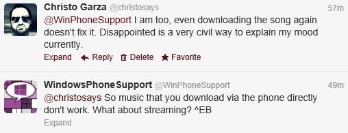 Windows Phone Support trying to help solve the problem.
